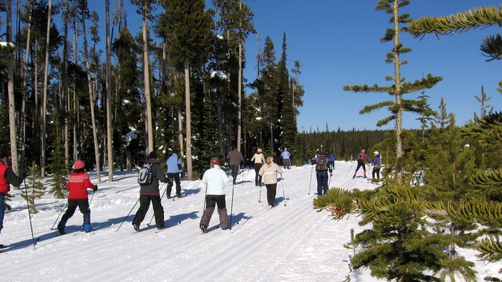 Ski Lesson on CD trail
