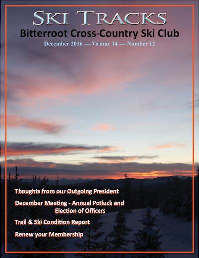 December 2016 newsletter cover